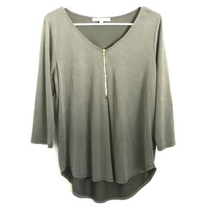 Casual Couture Olive green long sleeved top